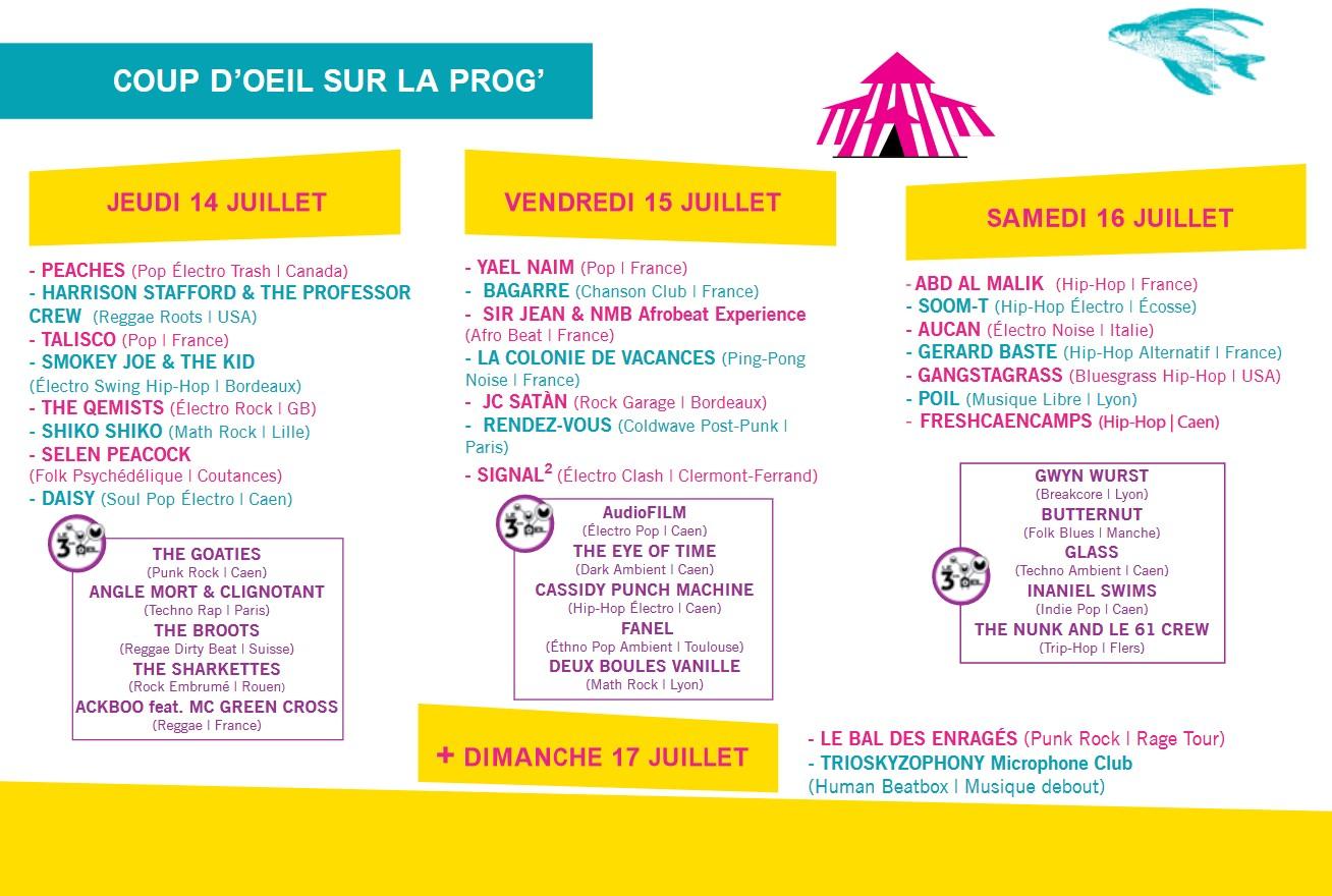 Programmation Festival Chauffer dans la Noirceur - Coutances Tourisme